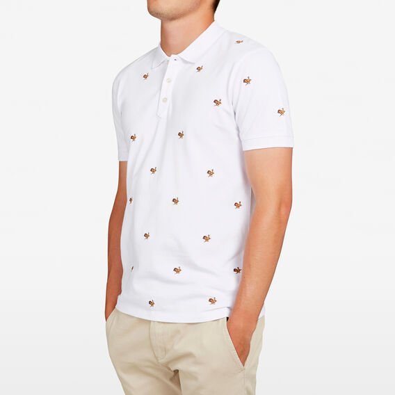 EMBROIDERED HARE POLO  WHITE  hi-res