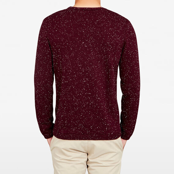 SAM SPECKLE KNIT  BURGUNDY  hi-res