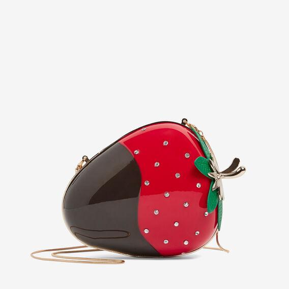 WILD STRAWBERRY CLUTCH  RED/BLACK  hi-res
