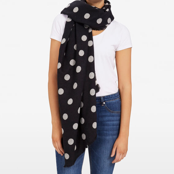 METALLIC SPOT SCARF  BLACK/GOLD  hi-res
