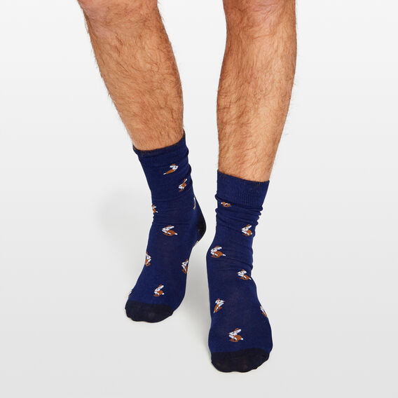 HARE 1 PK SOCKS  ROYAL BLUE  hi-res