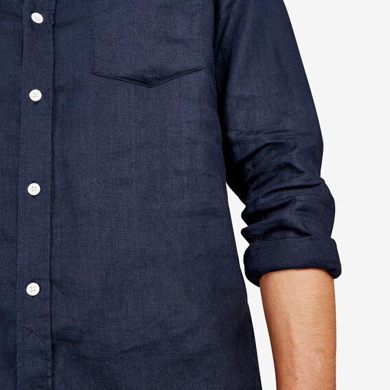LINEN REGULAR FIT SHIRT  OXFORD BLUE  hi-res