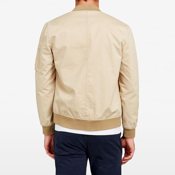 COTTON AVIATOR BOMBER JACKET  SAFARI STONE  hi-res