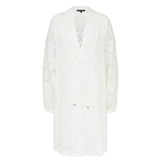 LACE UP SHIRT DRESS  SUMMER WHITE  hi-res