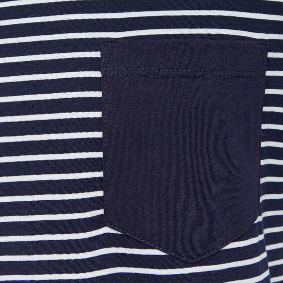 OXFORD STRIPE CREW NECK T-SHIRT  OXFORD BLUE/WHITE  hi-res
