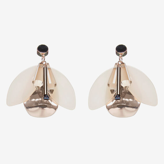 BUTTERFLY EARRINGS  ROSE GOLD  hi-res