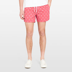 RESORT PALM SWIM SHORT  MELON  hi-res