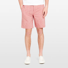 SOUTH BEACH  LINEN BLEND SHORT  AMALFI RED MARLE  hi-res