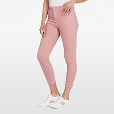 ANTIQUE DYE CROPPED JEAN  PASTEL PINK  hi-res