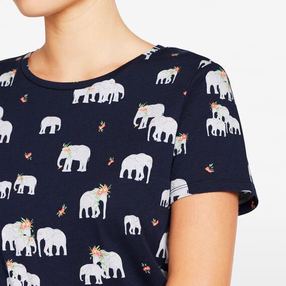 ELEPHANT PRINTED TEE  NOCTURNAL MULTI  hi-res