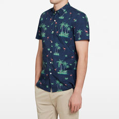 RETRO FLAMINGO CLASSIC FIT SHIRT  OXFORD BLUE  hi-res