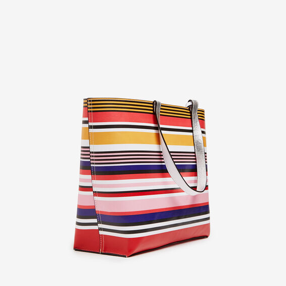 STRIPE REVERSIBLE TOTE  MULTI/SILVER  hi-res