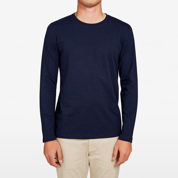 CLASSIC LONG SLEEVE T-SHIRT  NAVY MARL  hi-res