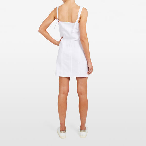 TIE SHOULDER DRESS  SUMMER WHITE  hi-res