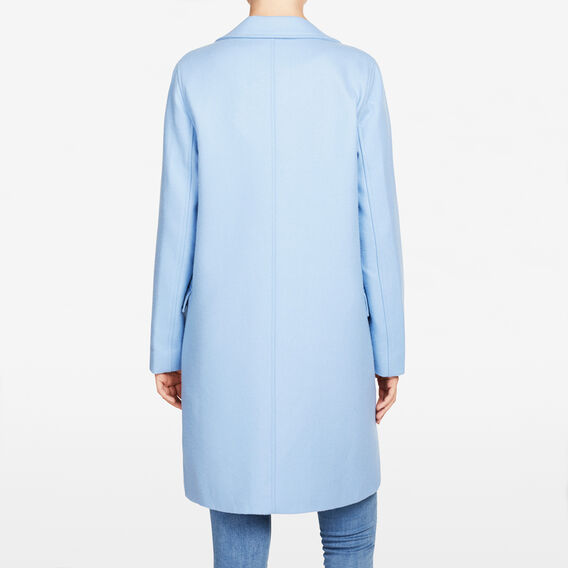 BRUSHED WOOL BLEND COAT  SKY BLUE  hi-res