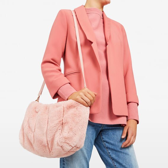 FLUFFY  BAG  BLUSH  hi-res