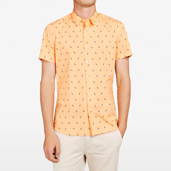 TOUCAN SLIM FIT SHIRT  SOFT MANGO  hi-res