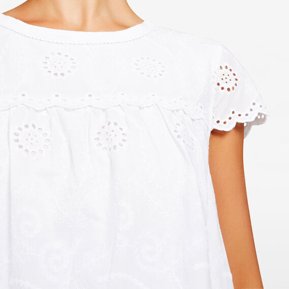 SCALLOP LACE BLOUSE  SUMMER WHITE  hi-res