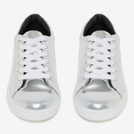 STAR PATCH SNEAKER  SILVER  hi-res
