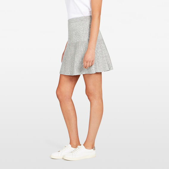 SPACE DYE FLIPPY SKIRT  GREY MARLE  hi-res