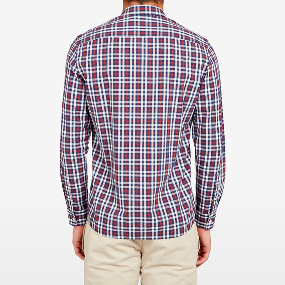 CHECK REGULAR FIT SHIRT  BURGUNDY  hi-res