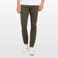 SLIM FIT STRETCH CHINO PANT  PINE GREEN  hi-res