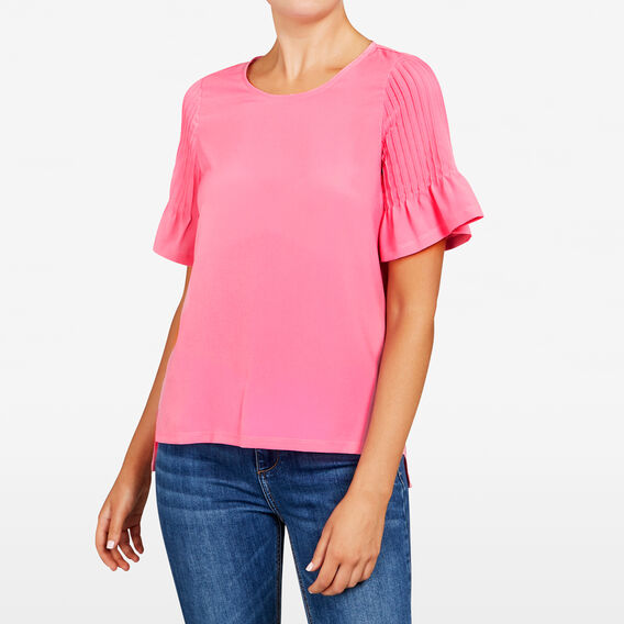 PINTUCK SPLICED TEE  ORCHID PINK  hi-res