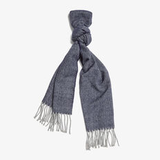 HERRINGBONE SCARF  NAVY/GREY  hi-res