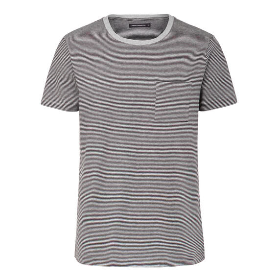 COLLECTED STRIPES CREW NECK T-SHIRT  CHARCOAL MARL  hi-res