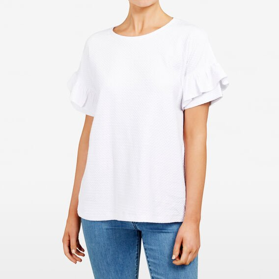 CUBAN TEXTURED TEE  SUMMER WHITE  hi-res