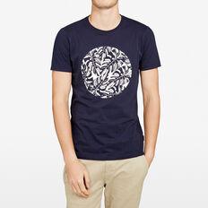 CIRCLE PALMS CREW NECK T-SHIRT  MARINE BLUE  hi-res