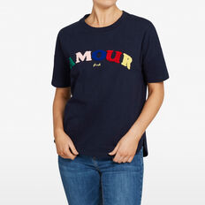 AMOUR SWEAT TEE  NOCTURNAL/MULTI  hi-res