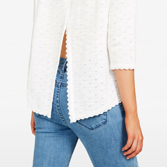 CROSS BACK POINTELLE KNIT  SUMMER WHITE  hi-res