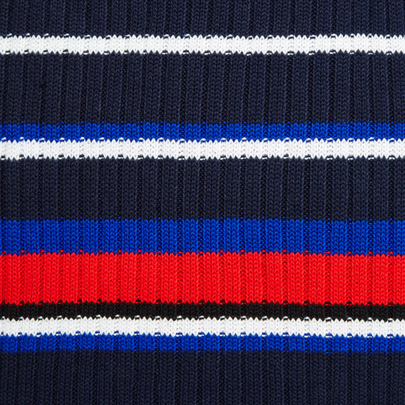 ENGINEERED STRIPE SCARF  NAVY MULTI  hi-res