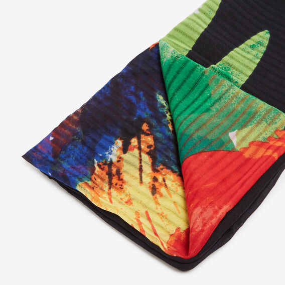 PARROT PRINTED SCARF  BLACK/MULTI  hi-res