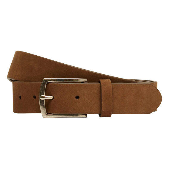 THIN SUEDE LEATHER BELT  STONE  hi-res