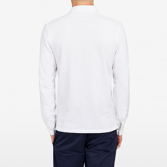 RESORT LONG  SLEEVE  POLO  WHITE  hi-res