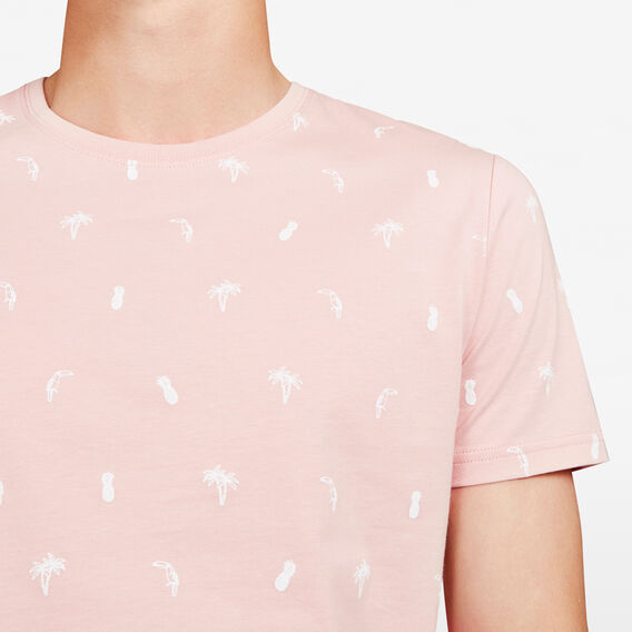 TOUCAN PALMS ALL OVER CREW NECK T-SHIRT  ORCHID  hi-res