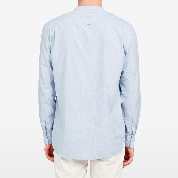 GRANDPA COLLAR SHIRT  BLUE MELANGE  hi-res