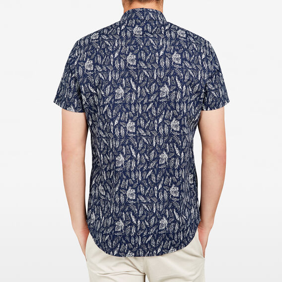 PARROT LEAVES REGULAR FIT SHIRT  MARINE BLUE  hi-res