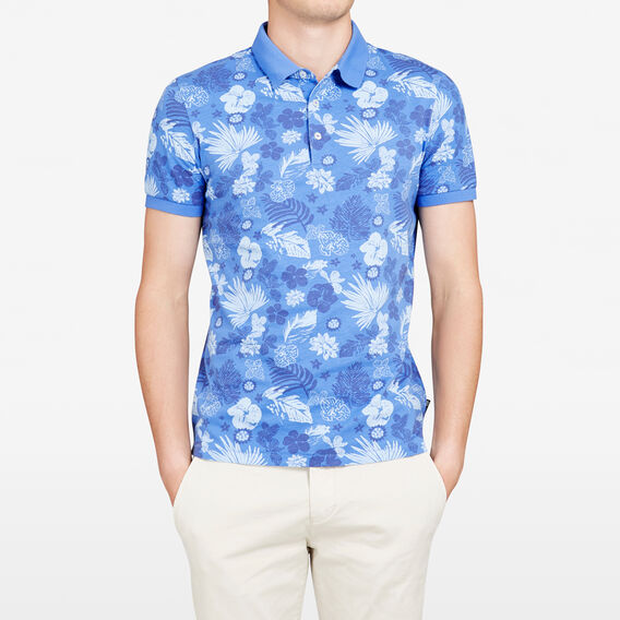 AMALFI FLORAL POLO  BLUES  hi-res
