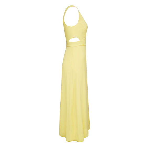 CUT OUT MIDI DRESS  YELLOW  hi-res
