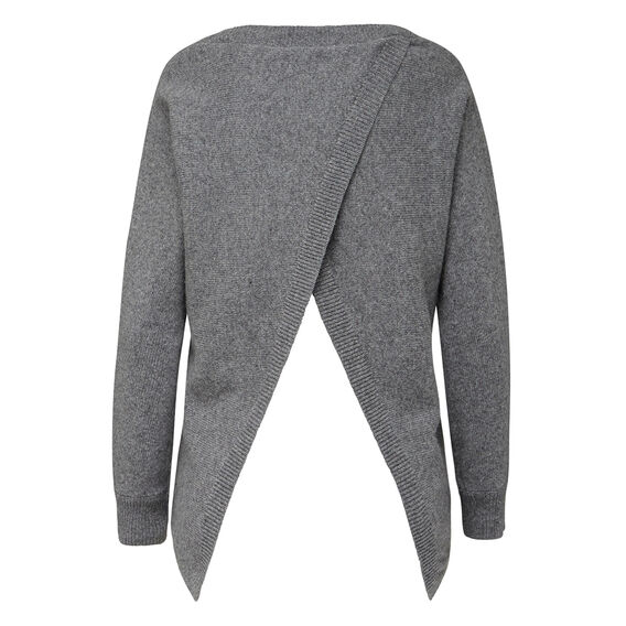 CHANNEL CROSS BACK KNIT  CHARCOAL MARLE  hi-res