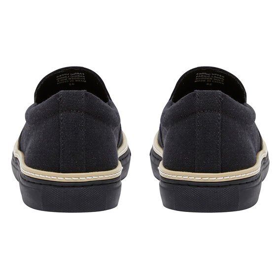 CANVAS WELT SLIP ON  BLACK/BLACK  hi-res