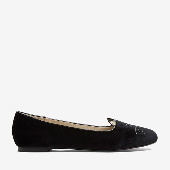 MEOW BALLERINA FLAT  BLACK  hi-res