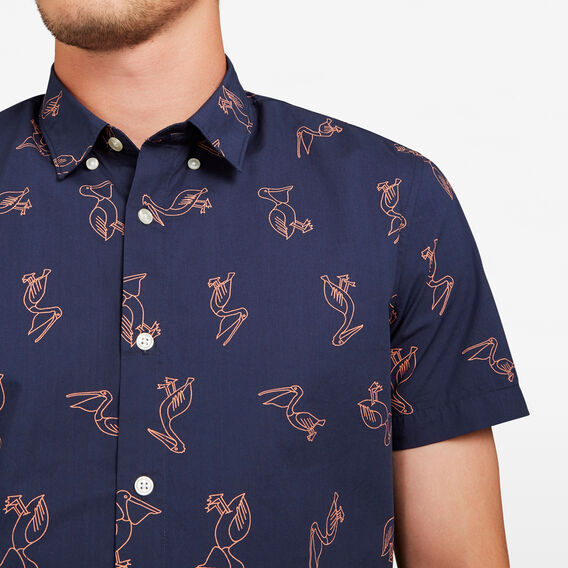 PELICAN SLIM FIT SHIRT  NAVY  hi-res