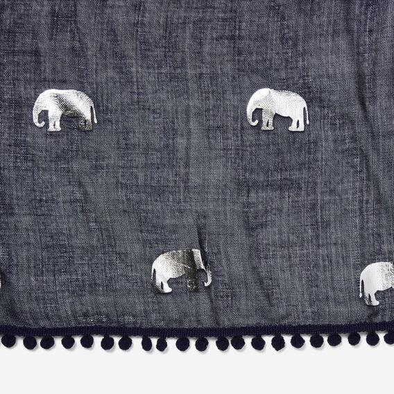 ELEPHANT SCARF  NAVY  hi-res