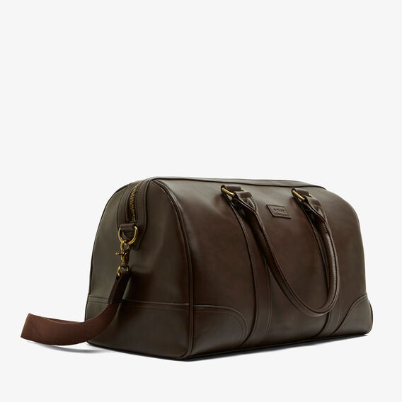 SAFARI LEATHER LOOK WEEKENDER  CHOCOLATE  hi-res