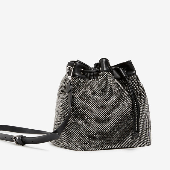 SPARKLE BUCKET BAG  BLACK  hi-res