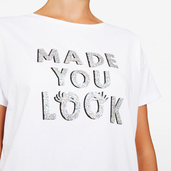 MADE YOU LOOK SLOGAN TEE  SUMMER WHITE/MULTI  hi-res